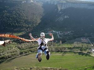 Прыжок со скалы Качи-Кальон