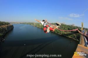 Прыжок с моста в Запорожье