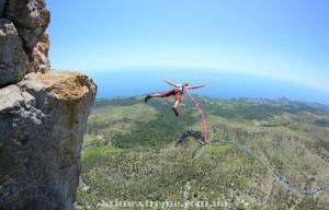 Прыжок со скалы Шаан-Кая