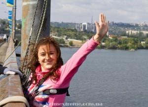 Прыжки с моста в Днепропетровске Роуп-джампинг